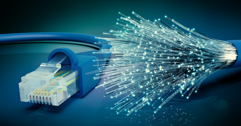 Fiber Optic Internet Cable Banner