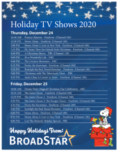 Holiday-TV-Schedule-2020-Broadstar-TV-Provider-Florida